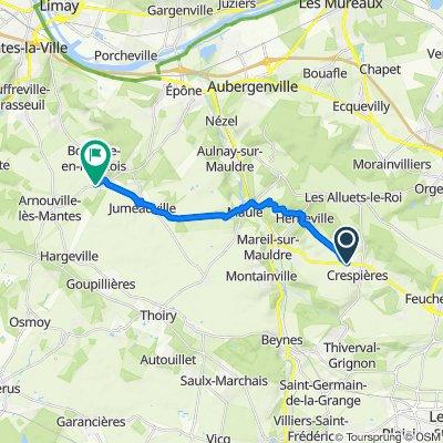 Itinéraire modéré en Goussonville