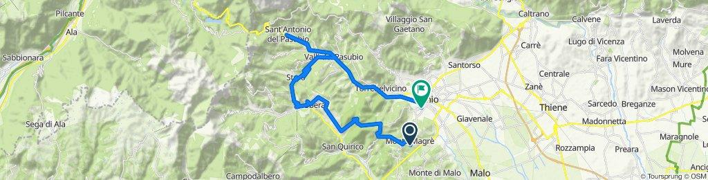 Restful route in Thiene