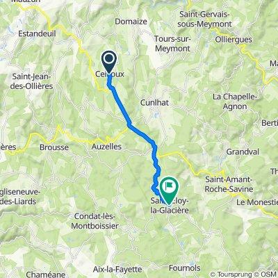 De Bourg de Ceilloux, Ceilloux à D105, Saint-Eloy-la-Glacière