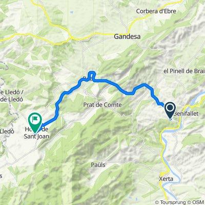 Via Verda, Benifallet nach Raval dels Àngels 18, Horta de Sant Joan