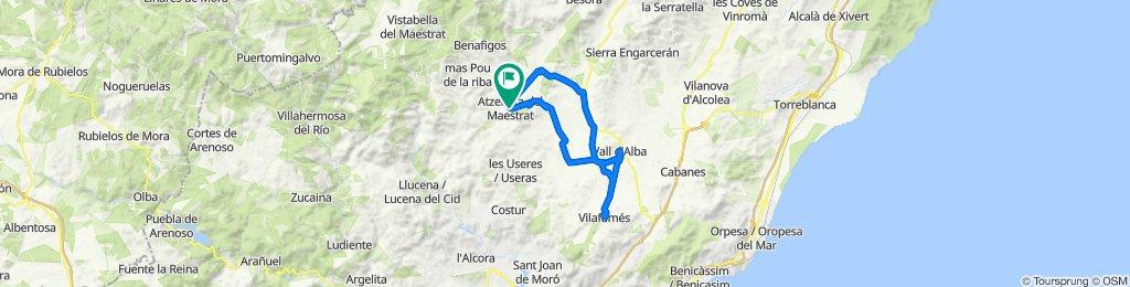 De Avenida de Castellón, 9, Atzeneta del Maestrat a Calle Sant Bartomeu, 4, Atzeneta del Maestrat