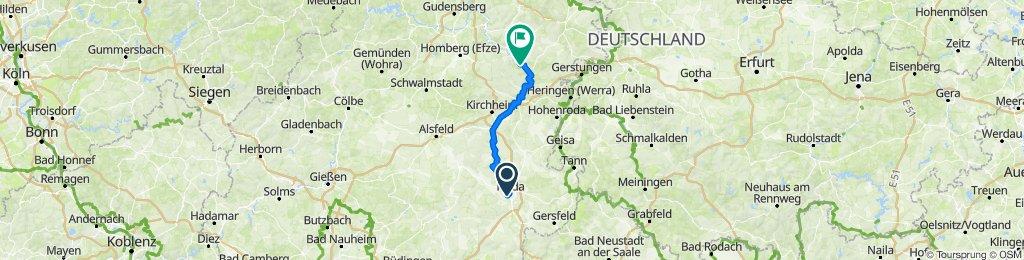 Von Fulda nach Rotenburg a.d. Fulda