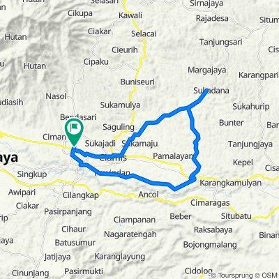 Jalan Kapten Heru Suryadi 81, Kecamatan Ciamis to Jalan Kapten Heru Suryadi 54, Kecamatan Ciamis
