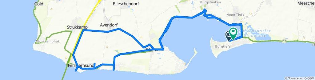 Langsame Fahrt in Fehmarn