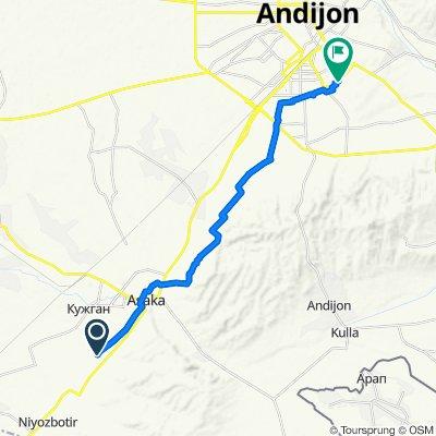 От Unnamed Road до Semashko Street, Andijan
