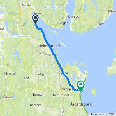 Gamleveien 144, Sande to Steinbrygga 30, Borre