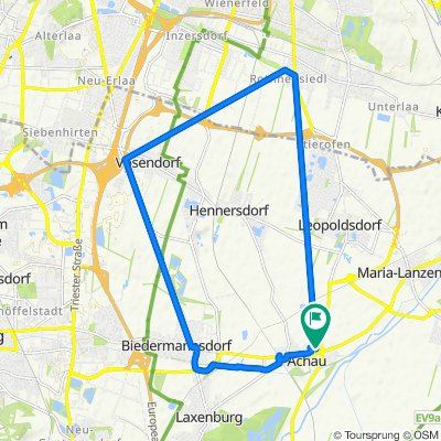 Hintausstraße 29/2/3, Achau nach Rosengasse 12, Achau