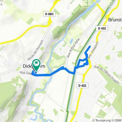 De Rue des Carrières, Didenheim à 3–5 Chemin des Écoliers, Didenheim