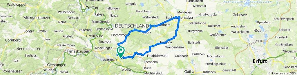 Zum Baumkronenpfad bei Bad Langensalza, Eisenach