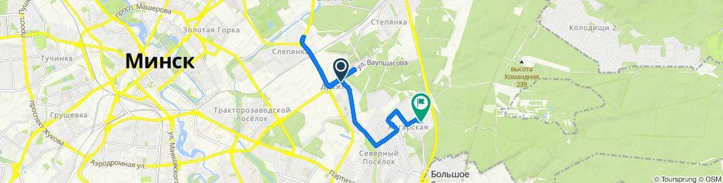 От Soltysa 167, Минск до улица Нестерова 72, Минск