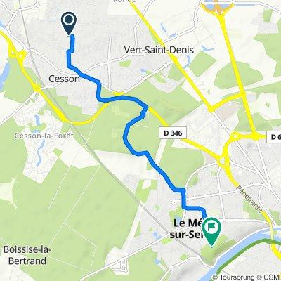 De Rue de Montdauphin 31, Cesson à Rue Chapu 723, Le Mée-sur-Seine