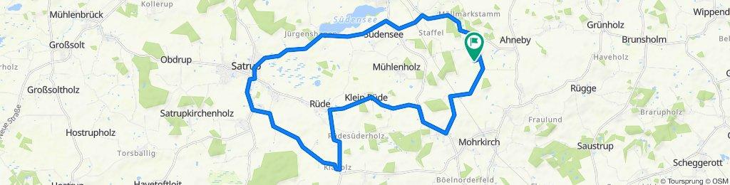 Restful route in Mohrkirch
