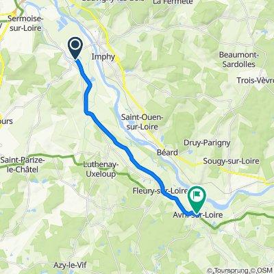 Itinéraire modéré en Avril-sur-Loire