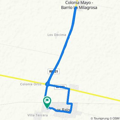 Restful route in Los Ralos