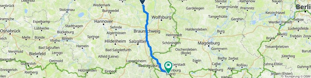 Route von Posener Straße 16, Ummern