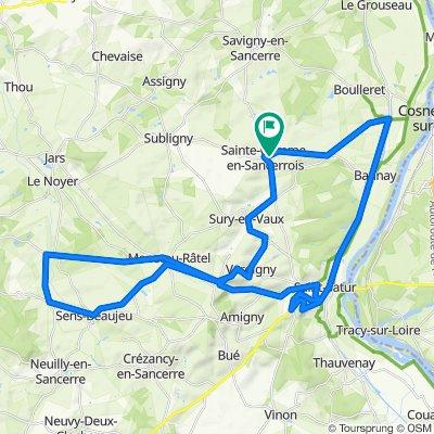 Ste Gemme - Boucard - 57 km