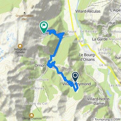 C Villard Reymond naar Oulles 18km/hm850/610
