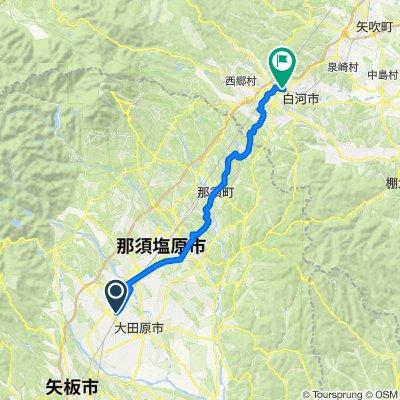 Day 7 Nasushiobara to Shirakawa
