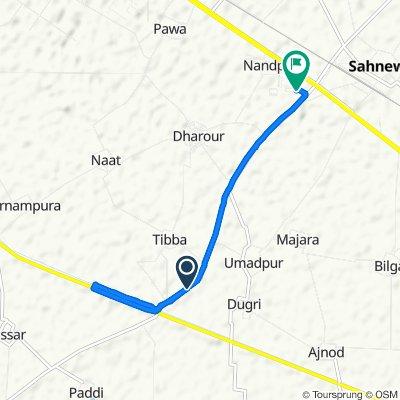 Dehlon-Sahnewal Road to Sahnewal