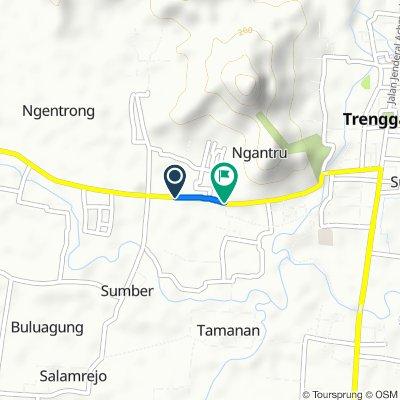 Route to Jalan Nasional III, Kecamatan Trenggalek