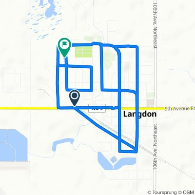 Easy ride in Langdon