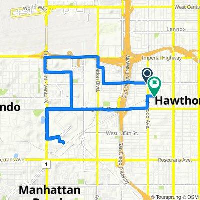 12025–12029 Inglewood Ave, Hawthorne to 12400 Eucalyptus Ave, Hawthorne
