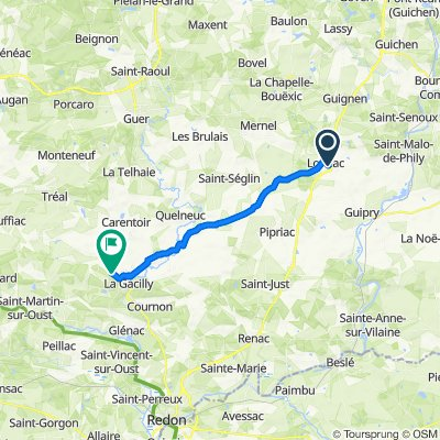 Itinéraire à partir de Rue de Châteaubriant