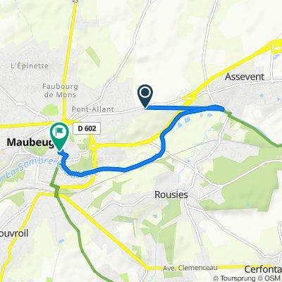De 255–257 Route d'Assevent, Maubeuge à 8 Place des Nations, Maubeuge