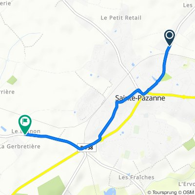 Rue des Pogneres 1, Sainte-Pazanne naar Le Bignon 1, Sainte-Pazanne