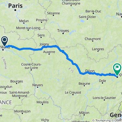 De 28B Route d'Orléans, Chanteau à 33 Rue des Fluttes Agasses, Besançon