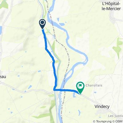 De D210, Luneau à D130, Vindecy