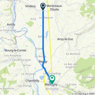 De D130, Vindecy à 50 Rue du Général de Gaulle, Marcigny