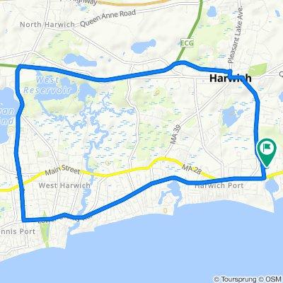 9.5 Mile Lower County Road-Depot Street-Cape Cod Rail Trail