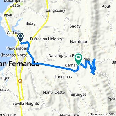 Pagdaraoan Biday Road, San Fernando to F. Ortega Highway 62, San Fernando