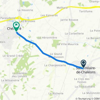 Rue Eloi Guitteny 5, Saint-Hilaire-de-Chaléons naar Rue de Saint-Hilaire 21, Chaumes-en-Retz