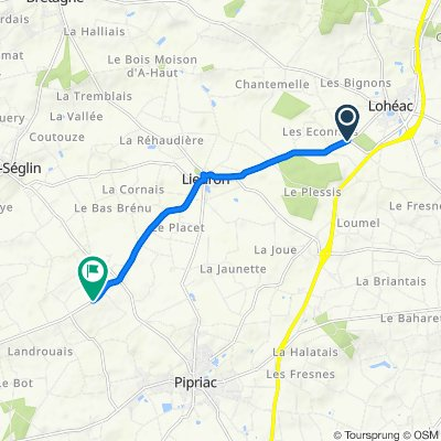 De D50 11, Lohéac à D352, Pipriac
