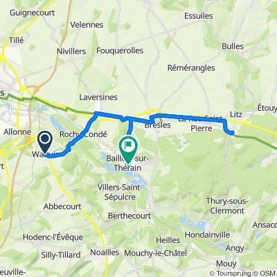 De Rue des Écoles 2, Warluis à Place Maurice Segonds 6, Bailleul-sur-Thérain