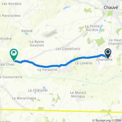 La Basse Chanterie 9, Chauve naar D6, Pornic