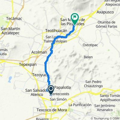 De Calle Zaragoza, Chiautla a Calle Francisco Villa 24, San Martín de las Pirámides