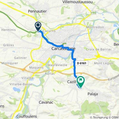 Itinéraire vers Avenue du Stade, Cazilhac