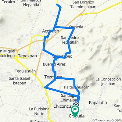 Supersonic route in Chiautla