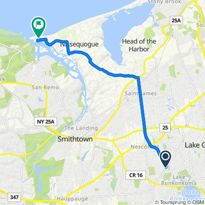 Route from Nichols Rd, Nesconset