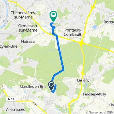 Steady ride in La Queue-en-Brie