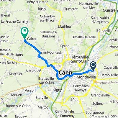 De Rue du Jeu de Paume 8, Colombelles à Rue Crois Mare 6, Lasson
