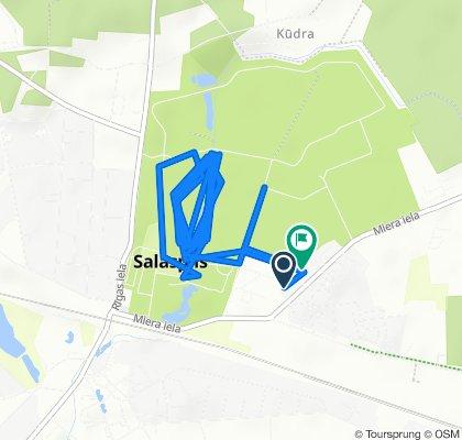 От Miera iela 17, Salaspils до Miera iela 19, Salaspils