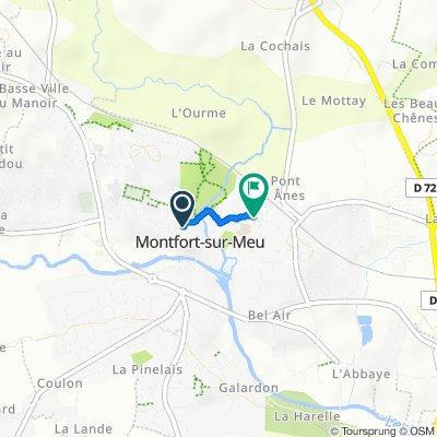 De Place du Tribunal, Montfort-sur-Meu à Rue de Rennes, Montfort-sur-Meu