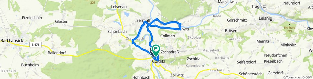 Moderate route in Colditz