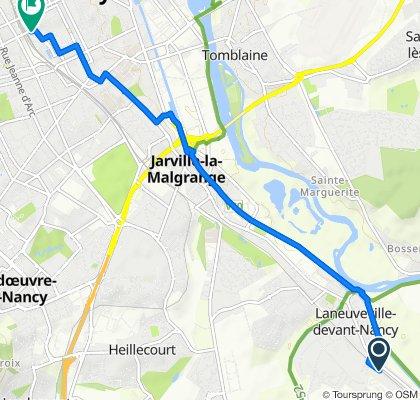Itinéraire à partir de 24 Rue du Gros Chêne, Laneuveville-devant-Nancy