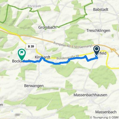 Leintalweg 3, Bad Rappenau nach Neulandstraße 6, Kirchardt