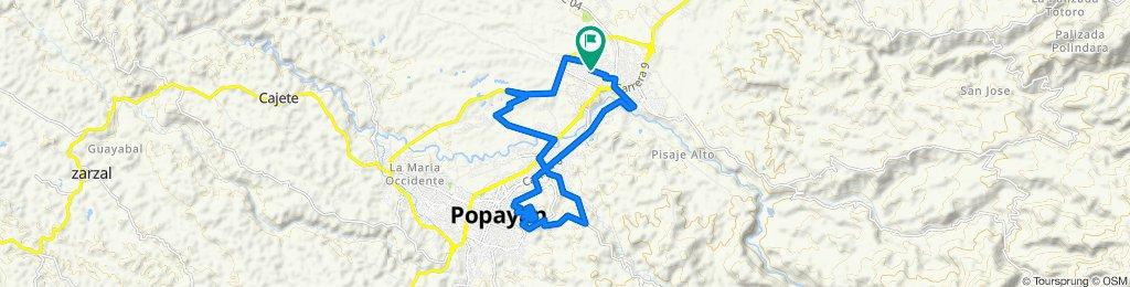 Ruta desde Calle 61 Norte 16-23, Popayán